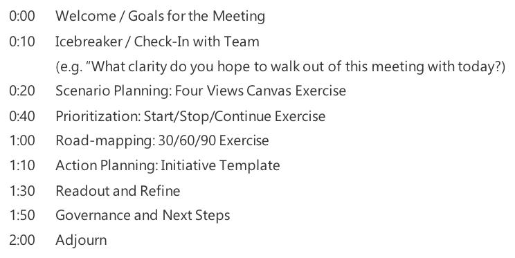 Sample Agenda - Resilience Planning Webinar
