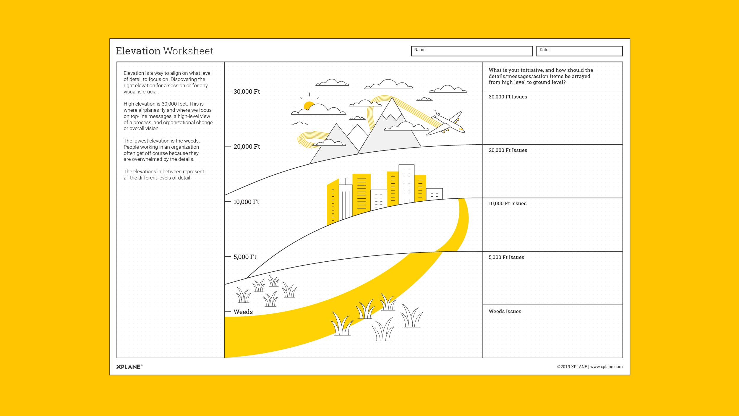 Elevation Worksheet