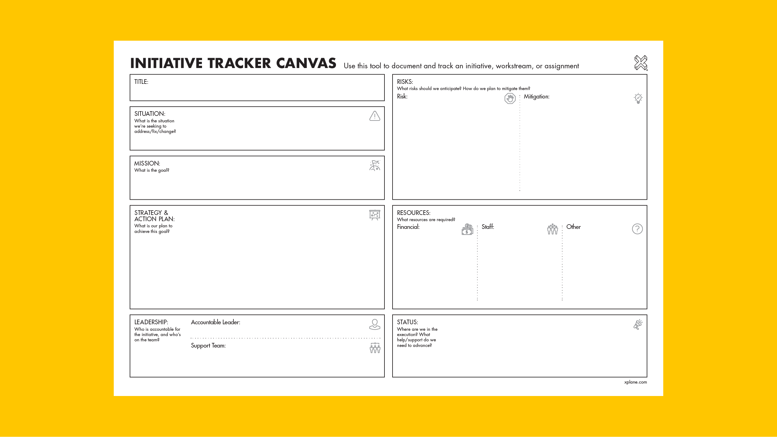 Initiative Tracking Canvas