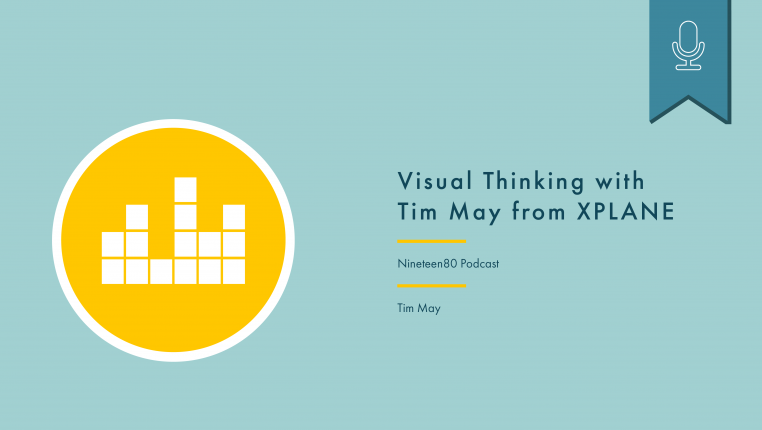 Header image showing podcast episode title, podcast name, and interviewee, Tim May