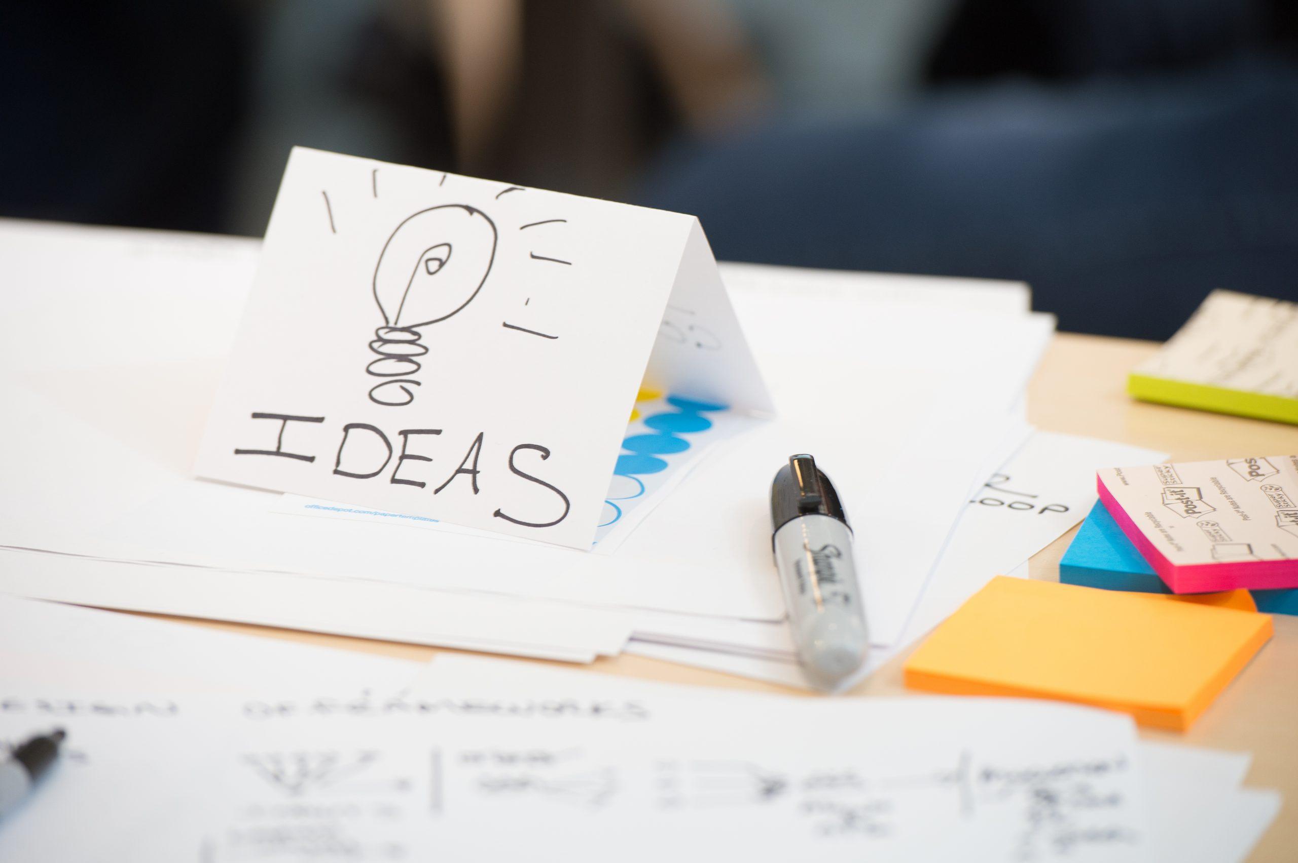 Ideas on paper
