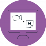 Purple icon showing a desktop computer with Zoom and Mural icons on the screen